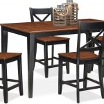 nantucket counter height table and 4 side chairs black and cherry