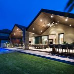 outdoor living area pool and barbecue created in renovation of