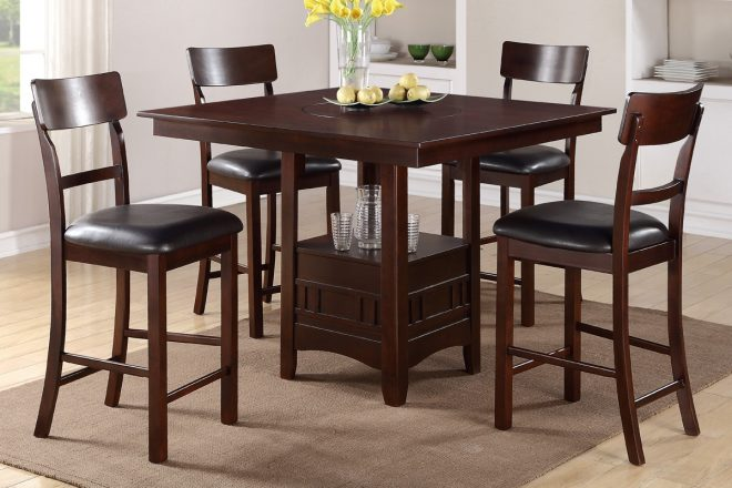 piece solid wood counter height dining table set high room