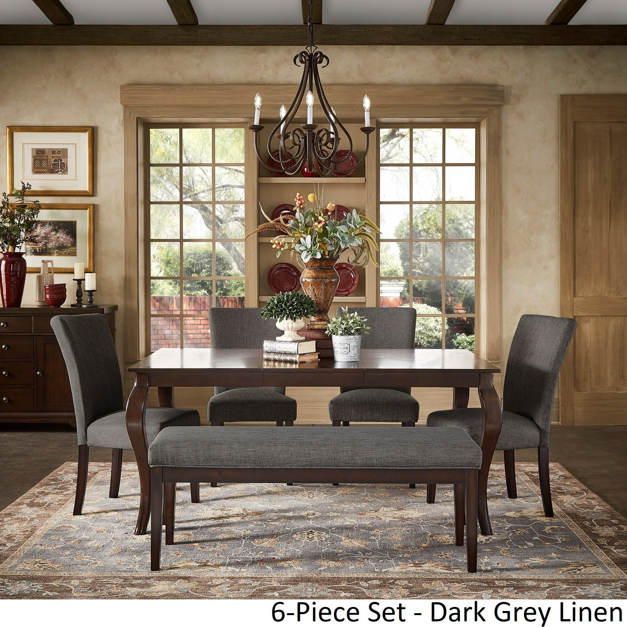 pranzo rectangular 66 inch extending dining table and set with cabriole legs inspire q classic