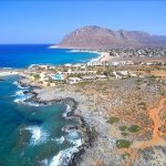 seafront plot of land for sale in akrotiri chania crete