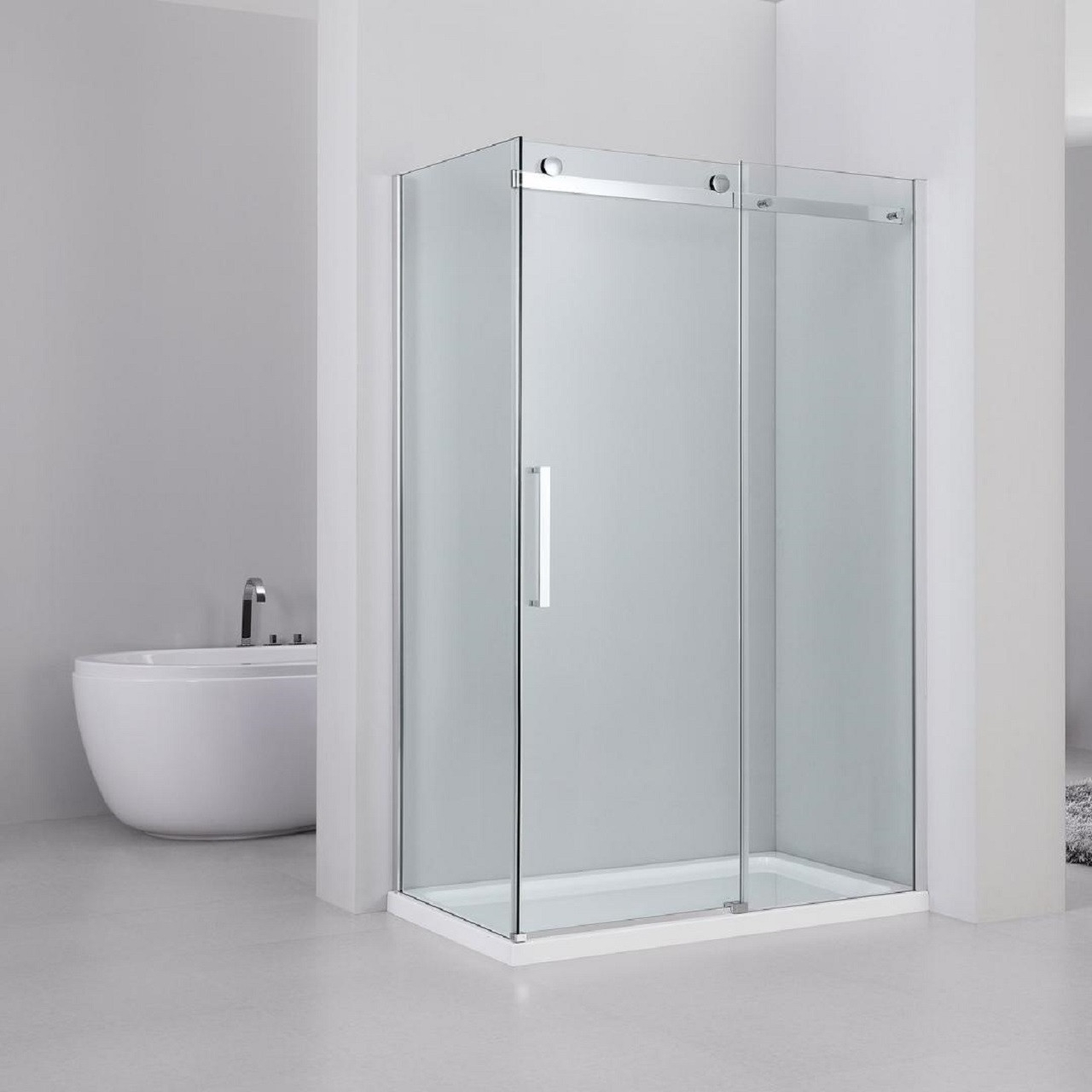 series 10 roller 1000mm x 800mm sliding door shower enclosure 34158