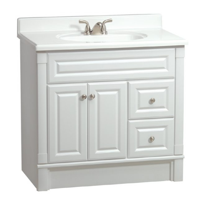 shop estate rsi southport white 36 in casual bathroom vanity at