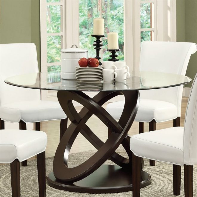 shop monarch specialties clear tempered glass round table at lowes