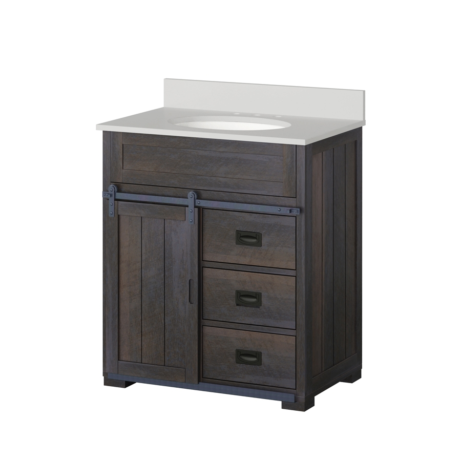 shop style selections morriston distressed java single sink vanity