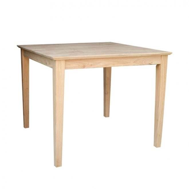 shop unfinished 30 inch square solid wood dining table free