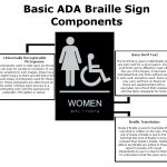 signcollection blog the different components of ada braille signs