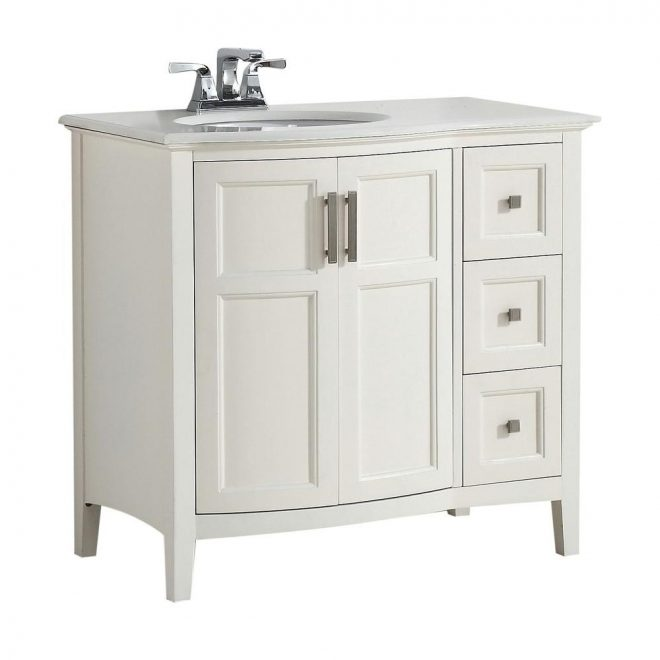 simpli home winston rounded front 36 in w vanity in soft white with