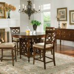 standard furniture woodmont round counter height table set in cherry