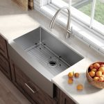 standart pro farmhouse flat apron front single bowl stainless steel 36 l x 21 w kitchen sink with basket strainer