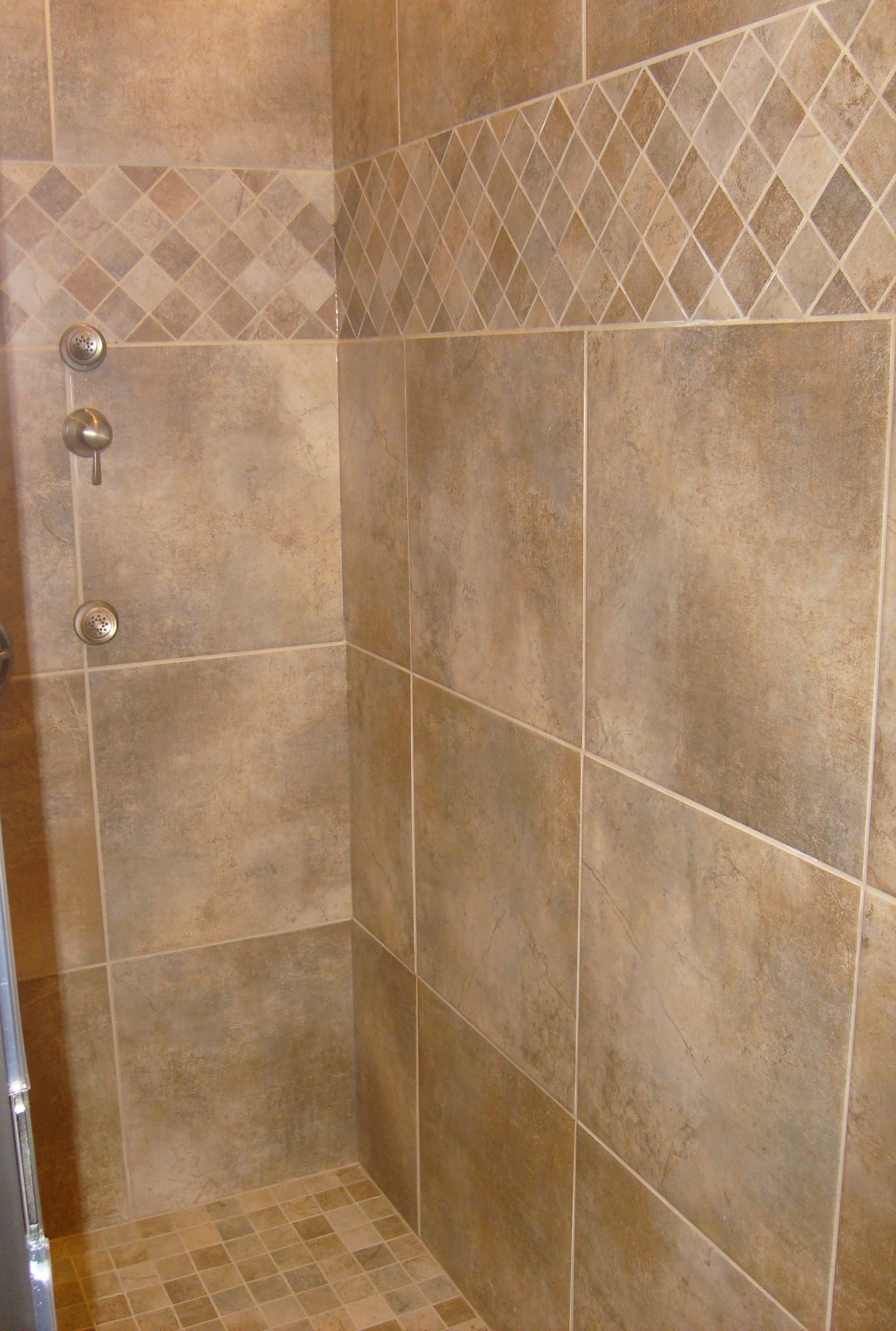 tile shower tile pattern time to update the house pinterest