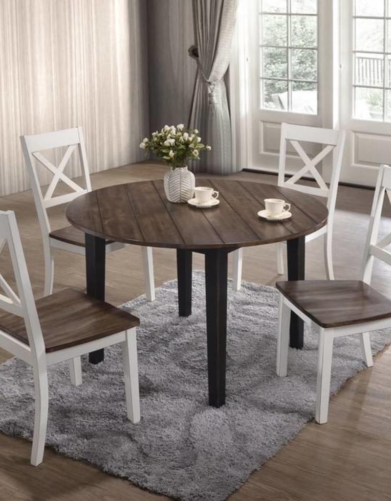 united a la carte farmhouse round dining table w 4 chairs