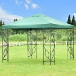 us 11999 goplus 10 x10 gazebo canopy shelter patio wedding party tent outdoor garden awning portable green canopy tent op3179 in gazebos from