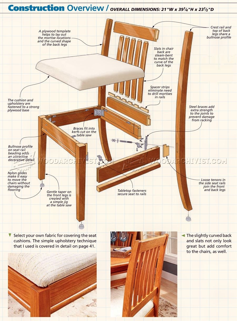 Wood Dining Chair Plans Room, Dining Room Chair Plans Woodworking
