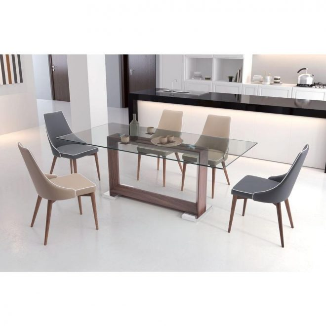 zuo oasis walnut dining table 100288 the home depot